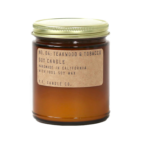 P.F. Candle Co. P.F. Candle Co. - No. 04: Teakwood & Tobacco Soy Candle - DimpzBazaar.com