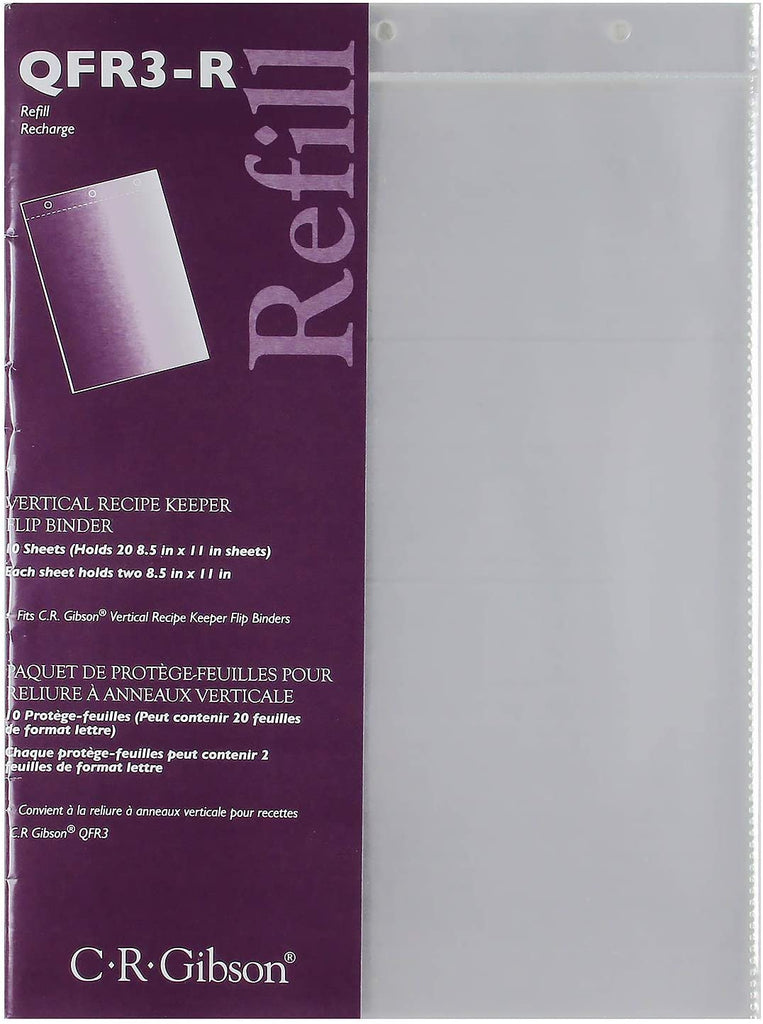 C.R. Gibson C.R. Gibson Refill Sheets for Vertical Recipe Keeper, 8.5'' x 11'' - DimpzBazaar.com