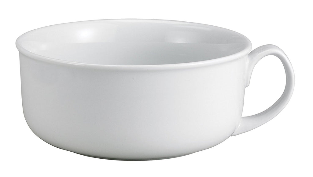 HIC Harold Import Co. HIC Oversized Soup and Cereal Mug, Fine Porcelain, White, 28-Ounces - DimpzBazaar.com