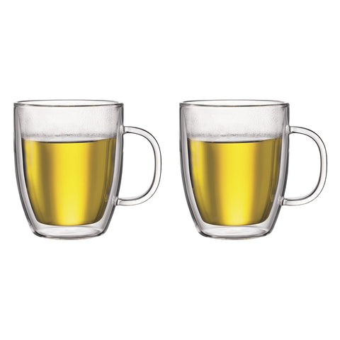 Bodum Bodum Bistro - Double Wall Thermo Glass Espresso Mug - For Hot and Cold Drinks - Transparent - Pack of 2 - Various Sizes - DimpzBazaar.com