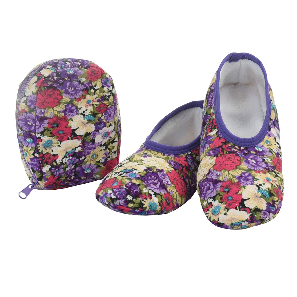 Snoozies Snoozies Skinnies & Travel Pouch | Purse Slippers for Women | Travel Flats with Pouch | Womens Slippers On The Go - DimpzBazaar.com