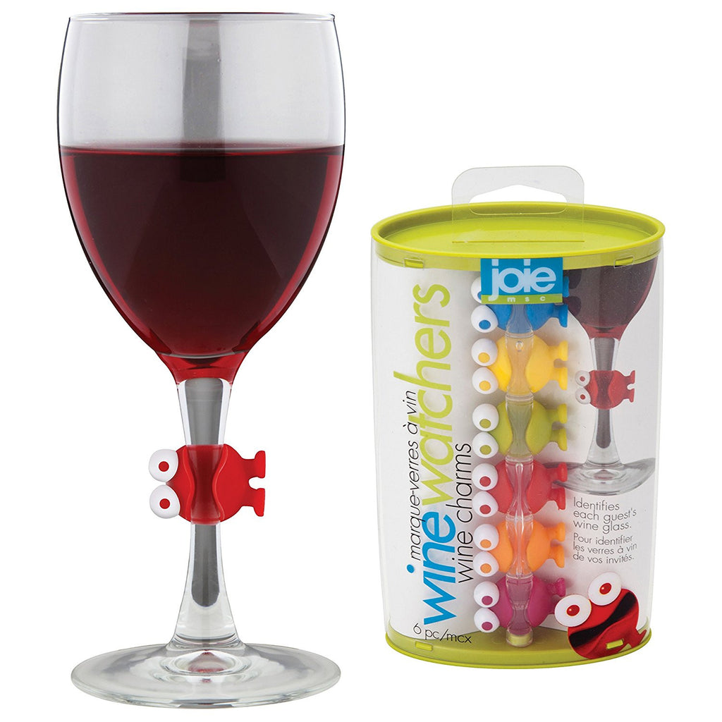 Joie Joie Wine Charms - 6 Piece Set - DimpzBazaar.com