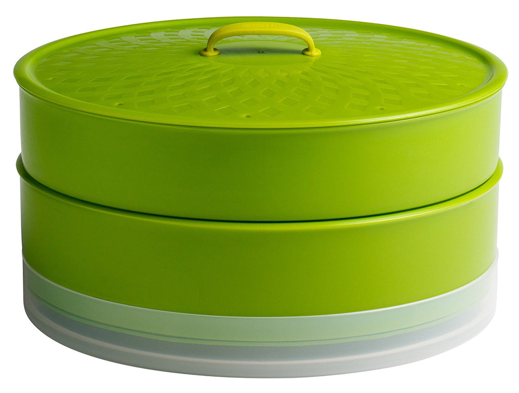 Chef'n Chef'n SteamSum Stackable Stovetop Wok or Microwave Steamer (10-Inch, Green) - DimpzBazaar.com