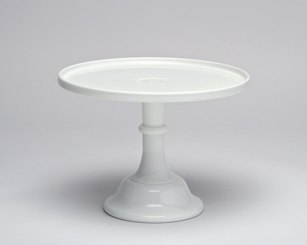 "Mosser Glass Mosser Glass 10"" Milk Glass Cake Plate/stand - DimpzBazaar.com"