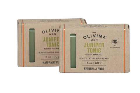 Olivina Men Olivina Men Juniper Tonic Exfoliating Bar Soap - DimpzBazaar.com