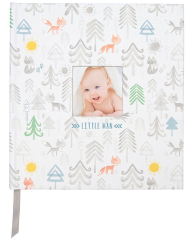 "C.R. Gibson C.R. Gibson Little Man Perfect-Bound Memory Book for Newborn and Baby Boys, 9.5"" x 10"" - DimpzBazaar.com"