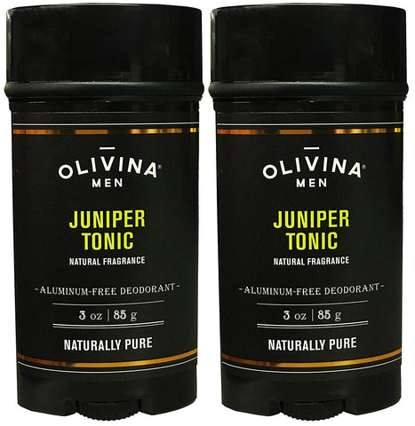 Olivina Men Olivina Men Juniper Tonic Deodorant Aluminum Free Deodorant For Men 3 Ounce (Pack of 2) - DimpzBazaar.com