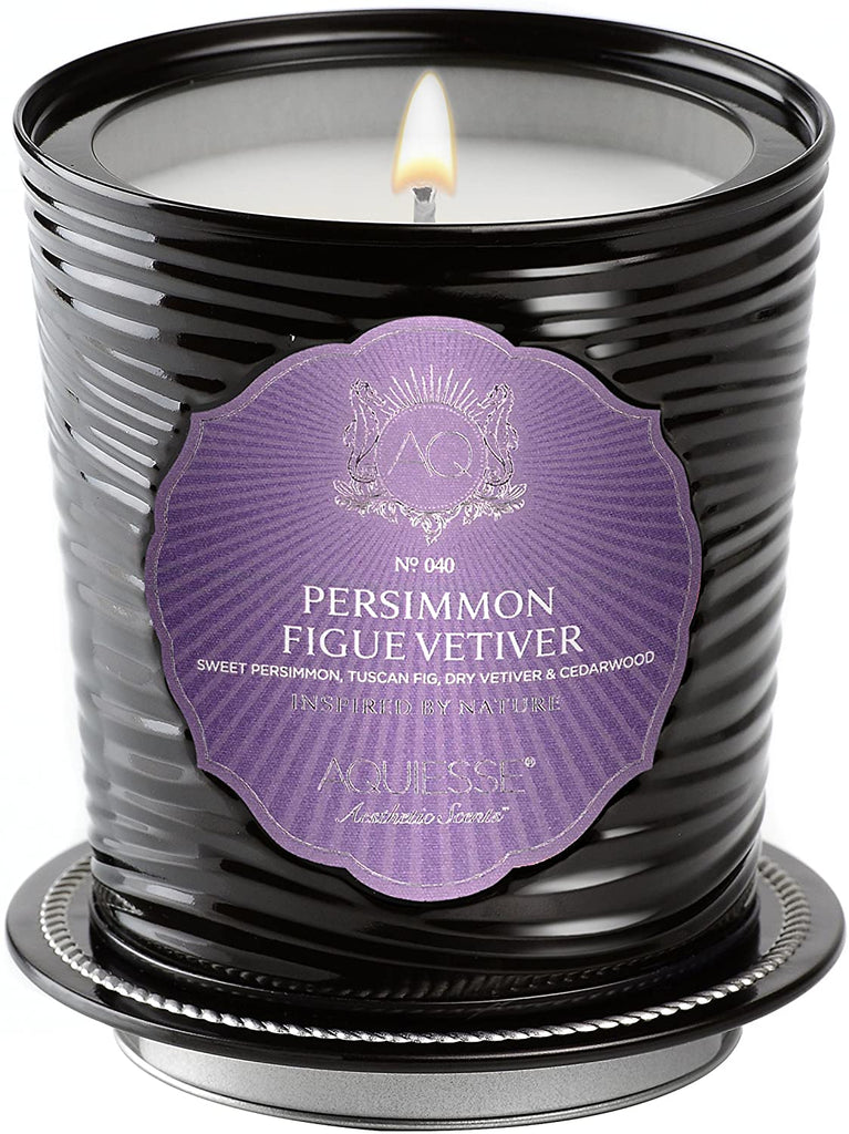 Aquiesse PERSIMMON FIGUE VETIVER TIN 11oz Portfolio Collection Scented Soy Candle by Aquiesse - DimpzBazaar.com