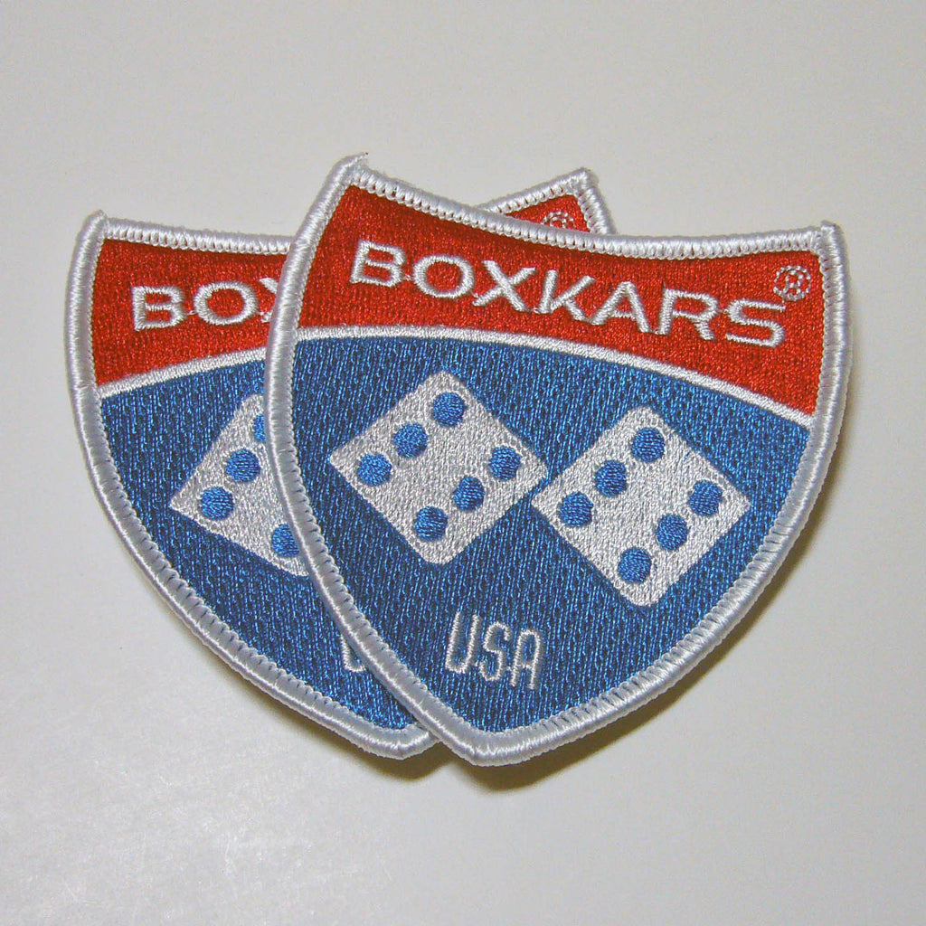 BOXKARS Embroidered Patches 2-PACK