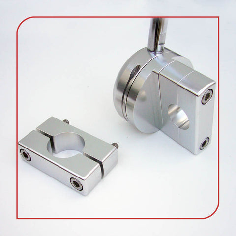 ".50"" [12.7mm] Low-Profile Frame Clamp (Silver)"