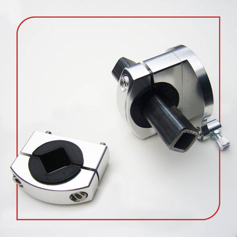 ".75"" [19.05mm] Square / Diamond Tube Frame Clamp (Silver)"