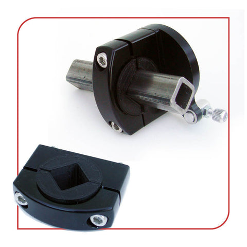 "1.0"" [25.4mm] Square / Diamond Tube Frame Clamp (Black)"
