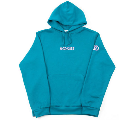 SLEEVE RINGS HOODY TEAL