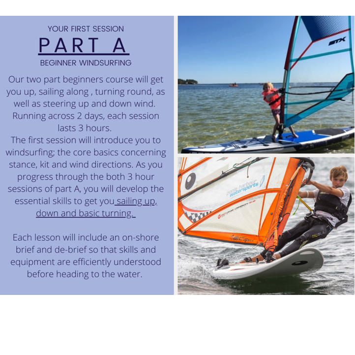 Poole Harbour Watersports School Part A Windsurfing Lesson