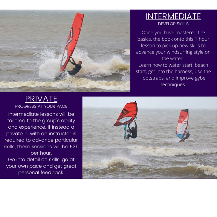 Poole Harbour Watersports School Intermediate / Private Windsurfing Lesson