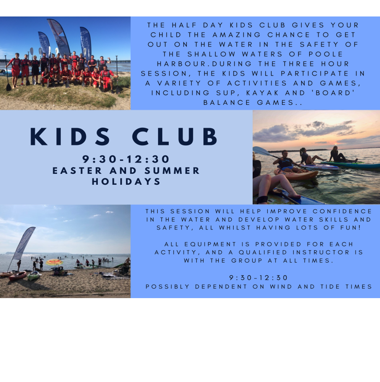 Poole Harbour Watersports School Kids Club Session