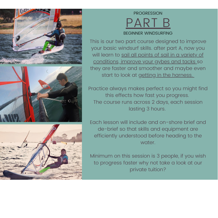 Poole Harbour Watersports School Part B Windsurfing Lesson