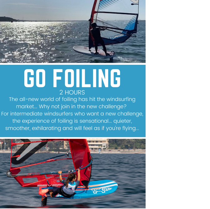 Poole Harbour Watersports School Windsurf Foiling Lesson