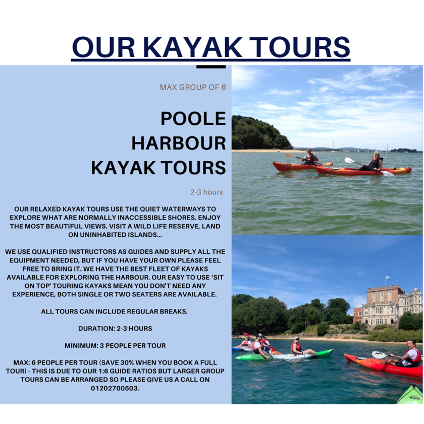 Poole Harbour Watersports Kayak Tours