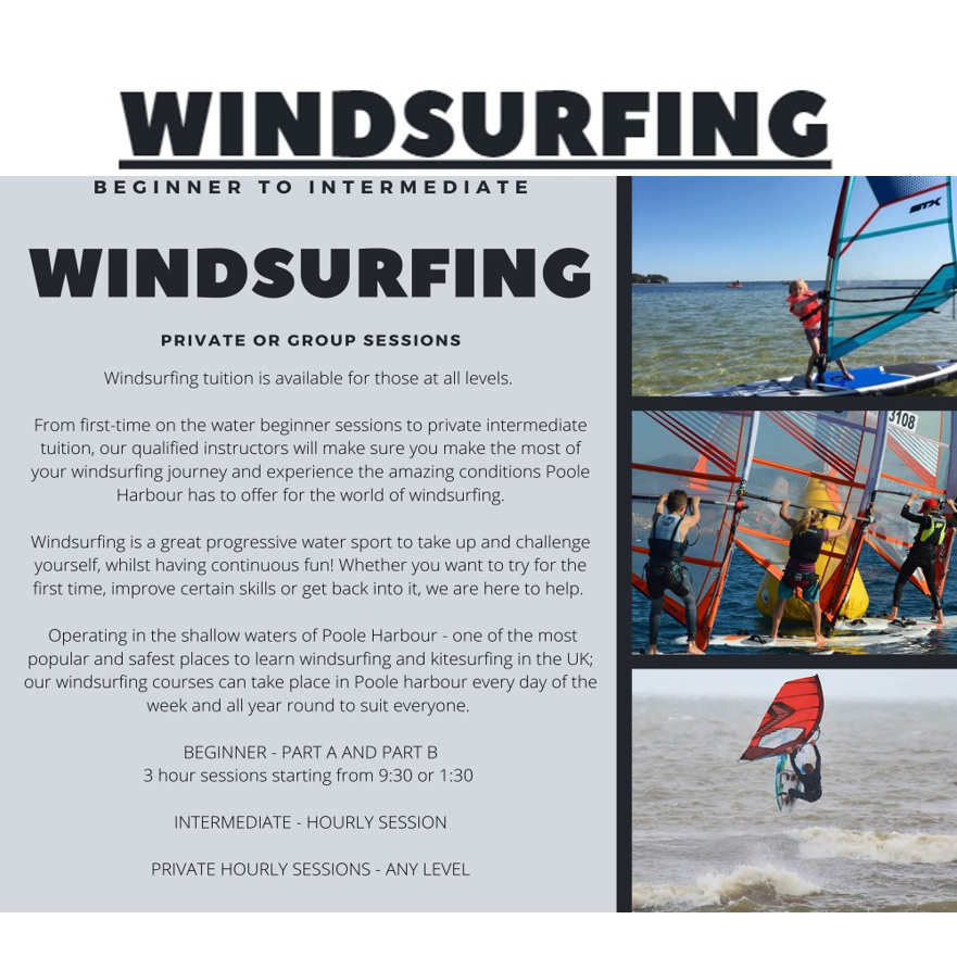 Poole Harbour Watersports Windsurfing Tuition