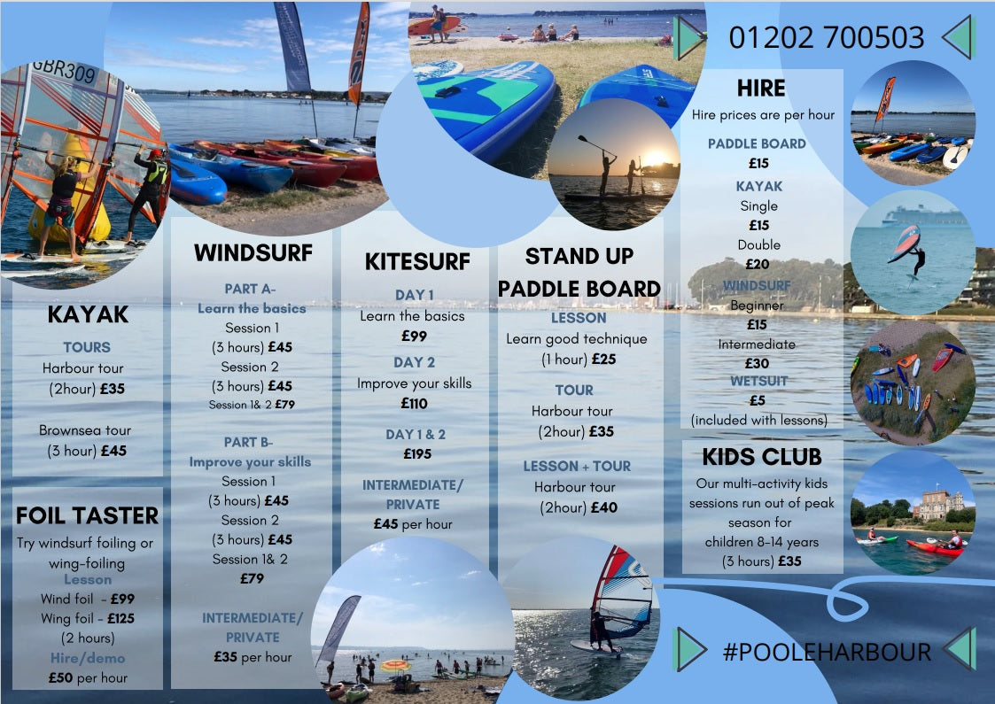 Poole Harbour Watersports School Tuition and Hire Prices