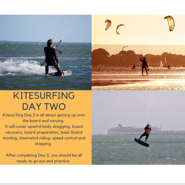 Poole Harbour Watersports School Kitesurfing Day Two Lesson
