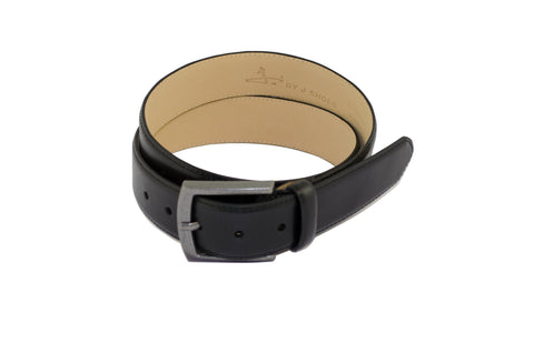 J SHOES MENS MOORE BLACK LEATHER BELT