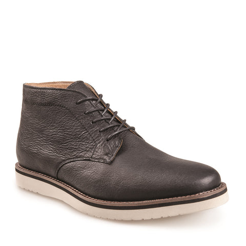 J SHOES MEN'S FARLEY BLACK LEATHER BOOT