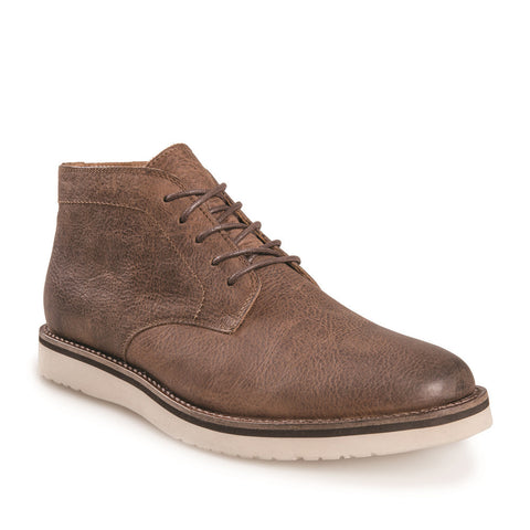 J SHOES MEN'S FARLEY BROWN LEATHER BOOT