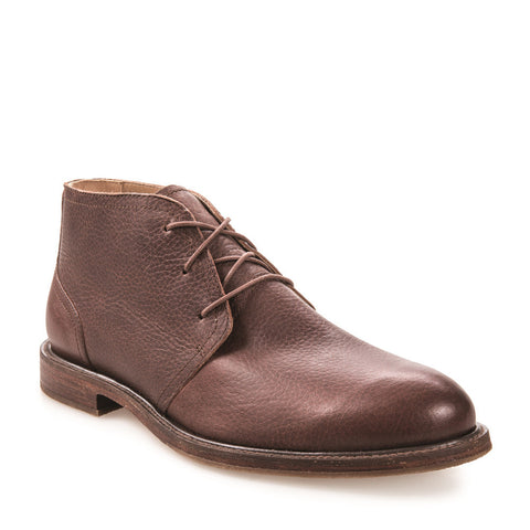 J SHOES MEN'S MONARCH AMBRA BROWN LEATHER CHUKKA BOOT
