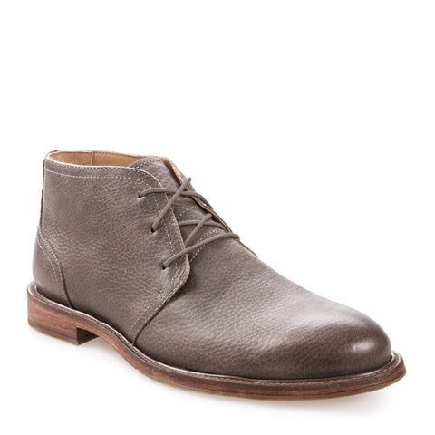 J SHOES MEN'S MONARCH PALOMA GREY LEATHER DESERT CHUKKA BOOT