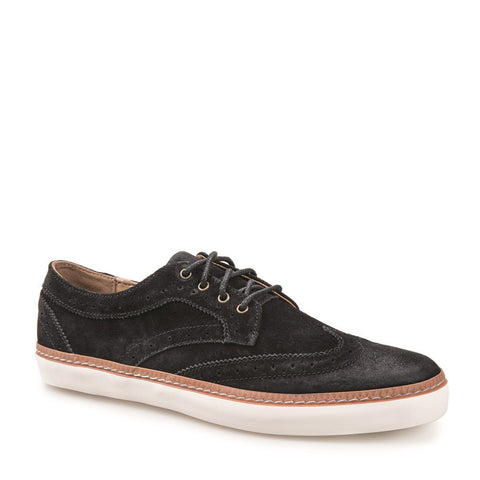 J SHOES MEN'S NOVELLO BLACK BROGUE TRAINER