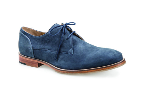 MEN'S MAR ENSIGN BLUE LEATHER DERBY