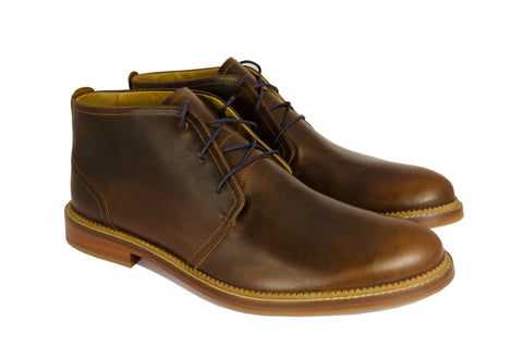 J SHOES MEN'S MONARCH BRASS LEATHER CHUKKA BOOT