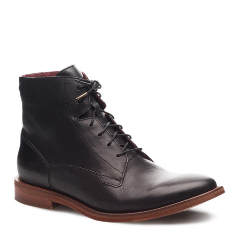 J SHOES MENS FELLOW LEATHER BOOTS BLACK