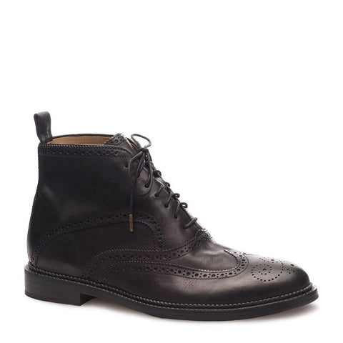 J SHOES MENS FRANCIS LEATHER BOOT BLACK