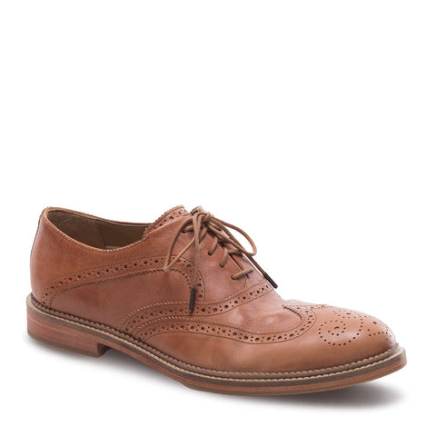 J SHOES MEN'S SPENCER BRASS LEATHER OXFORD BROGUE SHOE