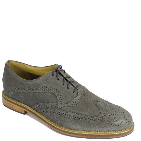 J SHOES MENS SPENCER LEATHER OXFORD BROGUE MAGNET GREY