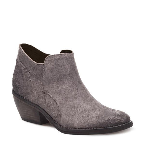 J SHOES WOMEN'S AMELIA MAGNET GREY SUEDE LEATHER ANKLE BOOT