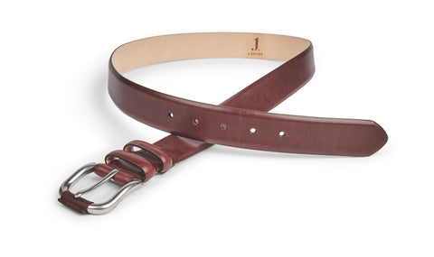 MENS TURNER RAISIN LEATHER BELT BA0602