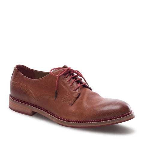 J SHOES MEN'S MATTHEW GINGER BROWN LEATHER DERBY SHOE