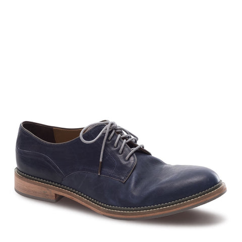 J SHOES MEN'S MATTHEW INK GREY LEATHER DERBY SHOE