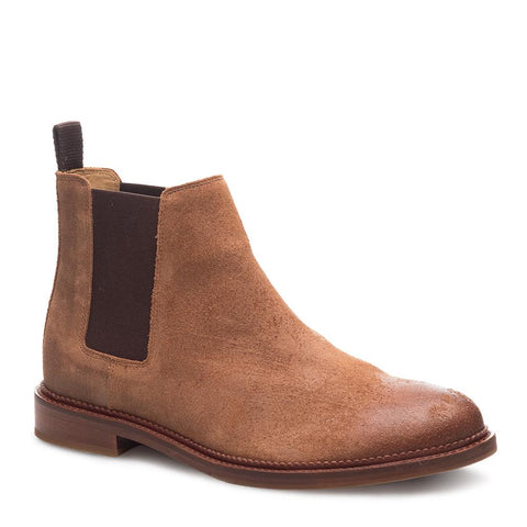 J SHOES MENS JAMIE SUEDE CHELSEA BOOT BRANDY BROWN