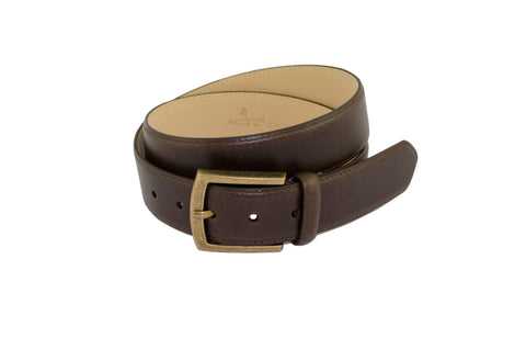 J SHOES MENS MOORE DARK BROWN LEATHER BELT