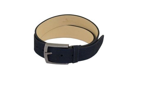 J SHOES MENS MOORE NAVY SUEDE LEATHER BELT