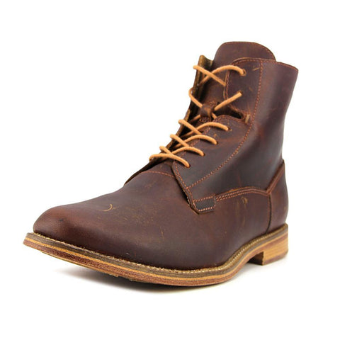 J SHOES MEN'S FELLOW DARK TAN LEATHER LACE UP BOOT