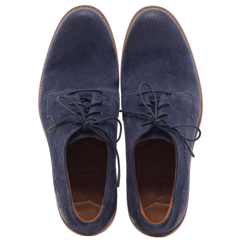 J SHOES MEN'S INDI PEACOAT BLUE SUEDE LEATHER DERBY SHOE