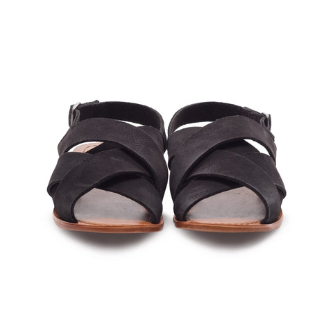 WOMEN'S CELINE BLACK SUEDE LEATHER SANDAL T9904