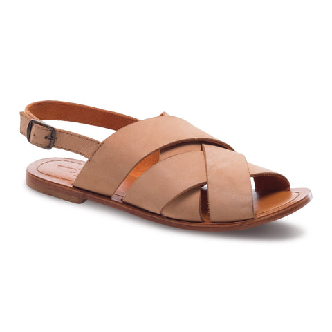 J SHOES WOMEN'S CELINE NATURAL SUEDE LEATHER SANDAL