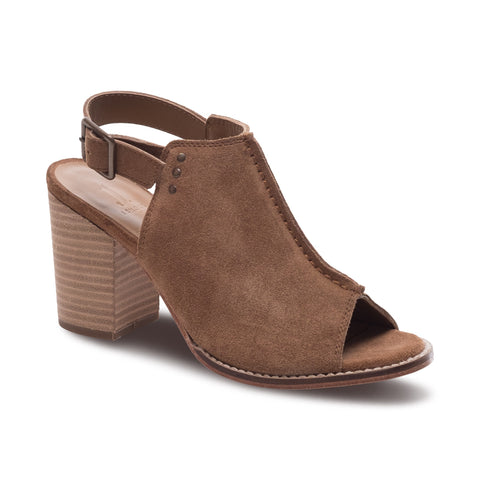 J SHOES WOMEN'S PIPPA TAUPE SUEDE LEATHER MULE
